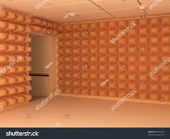 room interior 3d soundproof walls entrance stock illustration