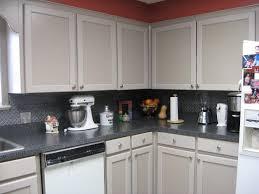 Metal Backsplashes For Kitchens Charming Grey Color Metal Tile Kitchen Backsplash With Stack Bond