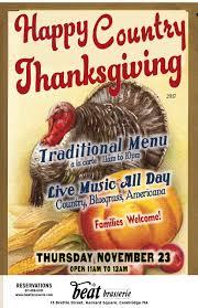 thanksgiving americana beat brasserie restaurant bar live