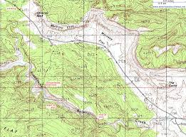 capitol reef national park map topographic map of sulphur creek capitol reef national park utah