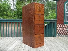 Antique Wood File Cabinet Sold Antique C 1910 Oak Library Makers 4 Drw File Cabinet