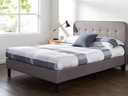 Curved Bed Frame Zinus Upholstered Curved Platform Bed With Wooden Slat