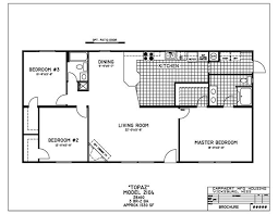 bright and modern 2 bedroom double wide mobile home floor plans 9