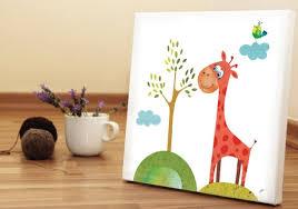 chambre la girafe déco tableau chambre bébé idée déco girafe sympa tableau chambre