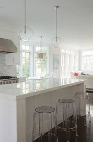 Grey Glass Backsplash by White Cabinets White Gray Glass Backsplash White Quartz