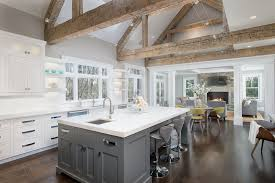 kitchen great room ideas rustic great room with columns flush light in canaan ct