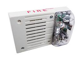 simplex 4903 9461 fire alarm horn strobe white