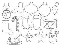 printable felt ornament patterns images