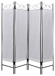 White Room Divider Screen Vidaxl 4 Panel Room Divider Privacy Folding Screen White 5 U00273