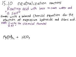 writing balanced equations for acid base neutralization reactions