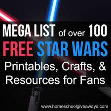 mega list 100 free star wars printables crafts