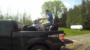 Ford F150 Truck Box - how to load a 600cc polaris atv into a ford pickup youtube