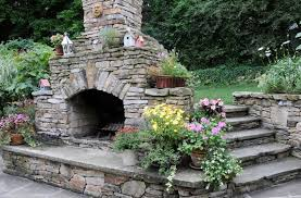 outdoor stone fireplace outdoor fireplace pictures gallery landscaping network