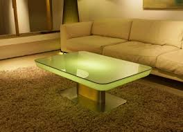 Coffee Tables With Led Lights Awesome Led Coffee Table On High Gloss Coffee Table With Optional