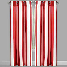 Cabana Curtains Cabana Stripe Grommet Indoor Outdoor Curtains Set Of 2