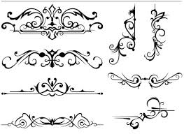 ornament borders elements 12 ai format free vector