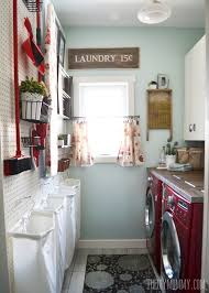 laundry room design vintage red and aqua small laundry room design ideas the diy mommy