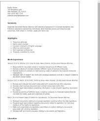 Different Resume Templates Document Review Resume Sample Jennywashere Com