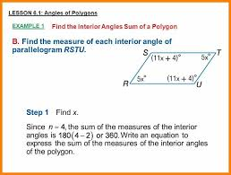 Measures Of Interior Angles 6 Formula For Sum Of Interior Angles Cv Sample Format