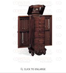 Armoire Ashley Antique Cherry Jewelry Armoire By Coaster 900065