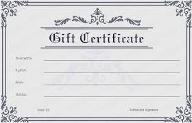 printable gift certificate this listing is for a single sided