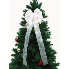 battery operated lighted christmas bows christmas ribbon indoor christmas decorations the home depot