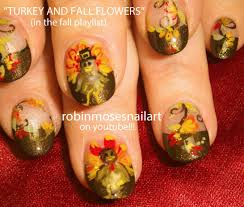 diy thanksgiving turkey nails design tutorial