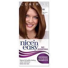 Hair Color Light Brown Nice U0027n Easy No Ammonia Hair Dye Light Warm Brown 92 Superdrug