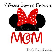 birthday minnie mouse mickey diy printable iron transfer