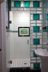 elegant glass block bathroom ideas with ideas about glass block