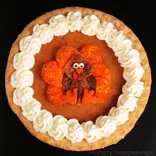 decorated pumpkin pie festive thanksgiving dessert