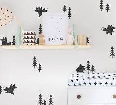 popular tree art wall decal buy cheap tree art wall decal lots forest foxes and pine trees wall decals art decor woodland animal vinyl wall stickers nursery