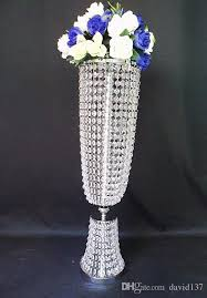Crystal Wedding Centerpieces Wholesale by Event Decor Metal Trumpet Wedding Vase Heart Shape Lead Road Tall