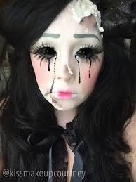 creepy doll costume scary doll makeup more dedicated to