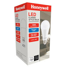 honeywell 100w equivalent daylight white a21 led light bulb