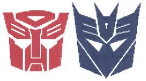 transformers autobots decepticons logo cross stitch pattern