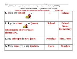 w 6 3 revising writing work sample sheets for low ability students