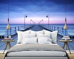 non woven wall mural pier at the seaside premium wall murals non non woven wall mural pier at the seaside