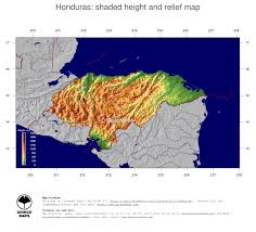 Topographical Map Of South America by Map Honduras Ginkgomaps Continent South America Region Honduras