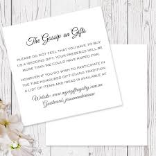 wedding gift list wording navy and white modern wedding gift registry or wishing well card