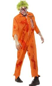 Convict Halloween Costumes Zombie Inmate Men U0027s Costume Death Row Zombie Halloween Costume