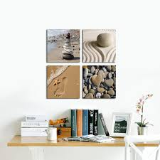 Pictures For Office Walls by Amazon Com Wieco Art Romantic Beach Theme 4 Piece Modern Giclee