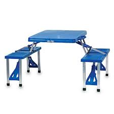 picnic tables folding with seats picnic time folding picnic table with seats bed bath beyond
