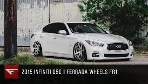 bagged ls460 2015 infiniti q50 bagged ferrada fr1 machine silver chrome lip