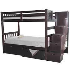 Bunk Beds Espresso Bunk Bed Stairway Espresso Bunk Beds Stairs