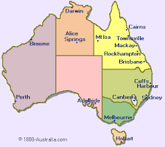 australia map of cities australia map with major cities major tourist