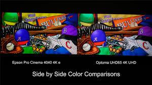 optoma uhd65 home theater projector comparison epson pro cinema