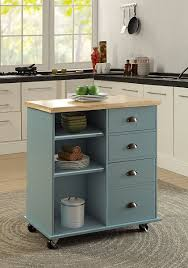 oliver and smith nashville collection mobile kitchen island oliver and smith nashville collection mobile kitchen island cart on wheels blue grey natural oak butcher block