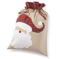 Mud Pie Christmas Ornaments Amazon Com Mud Pie Santa Tartan Christmas Sack Health U0026 Personal