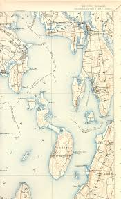 map of ma and ri narragansett bay ri ma quadrangle